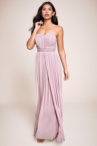 new concept many fashionable new lifestyle Buy Lipsy Tall Bella Multiway Bandeau Maxi Dress from the Next UK ...