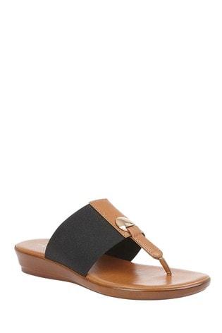 Buy Lotus Comfort Toe Post Wedge Sandal