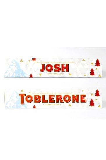 Personalised White Chocolate Toblerone 360g By Yoodoo