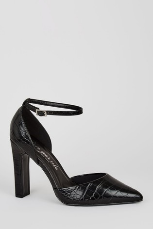 Buy New Look Wide Fit Patent Faux Croc