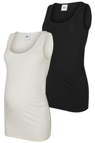 Mamalicious Womenss Maternity Vest Top Pack of 2