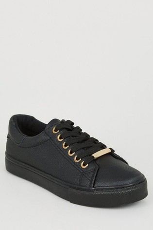 Buy New Look Girls Leather Look Lace Up