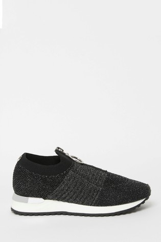Buy Lipsy Girl Black Knit Trainer from