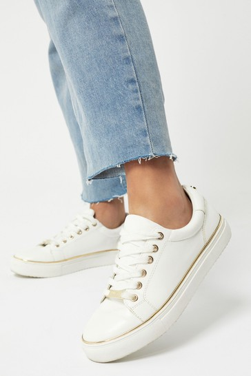 Buy Lipsy Girl Metal Lace Up Trainer