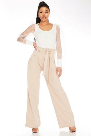 Quiz High Waisted Palazzo Trousers