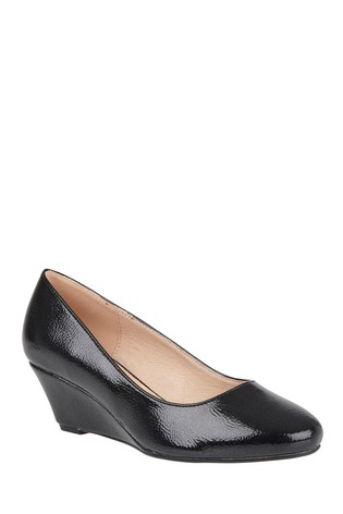 black court wedge shoes uk