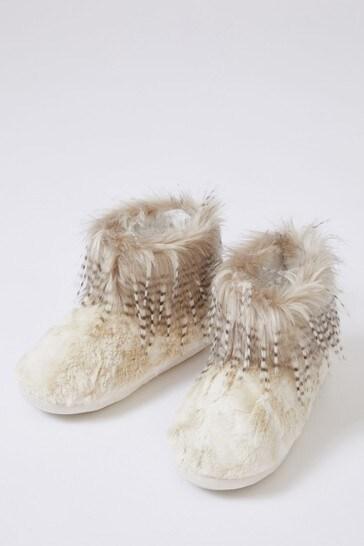 London Brandi Faux Fur Slipper Boots