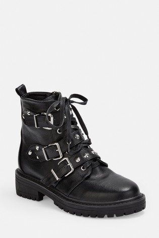 Buy Missguided Triple Strap Studded