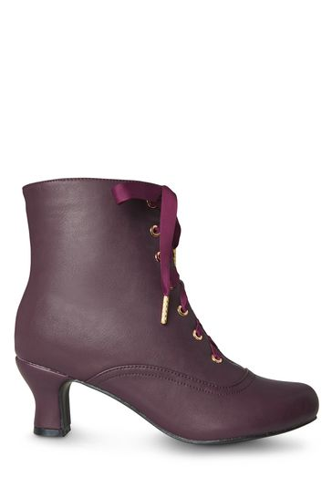 Joe Browns Victoriana Plum Ankle Boots