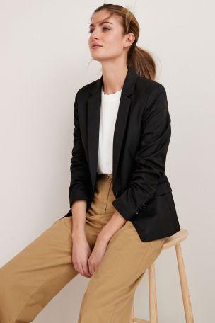 Black Single Breasted Tailored Jacket