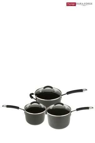 Set of 3 Prestige Duraforge Professional Saucepans
