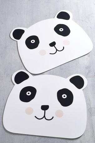 Set of 2 Panda Wipe Clean Placemats