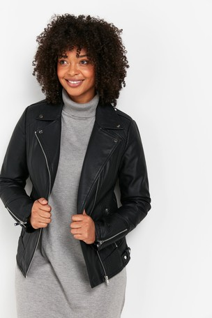 Wallis Faux Leather Biker Jacket
