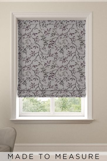 Mulberry Purple Phoebe Made To Measure Roman Blind