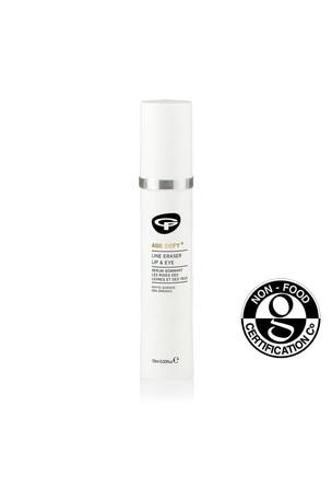 Green People Organic Lip & Eye Serum, Line Eraser Age Defy+, Vegan 10ml