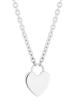 Simply Silver Sterling Silver 925 Polished Heart Lock Pendant