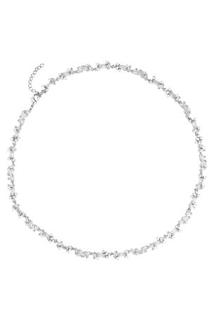Jon Richard Silver Rhodium Plated Crystal Fine Cubic Zirconia Necklace