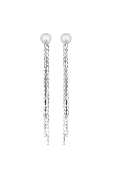 Simply Silver Sterling Silver 925 Slinky Tassel Drop Earrings