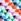 Weiss mit geometrischem Muster