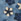 Bleu motif fleurs