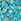 Сине-зеленая с рисунком