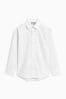 White Long Sleeve Smart Print Shirt (3-16yrs)
