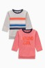 Red Beyond Cool Long Sleeve T-Shirts Two Pack (3mths-6yrs)