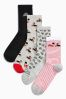Grey/Red Royal Ankle Socks Four Pack