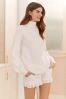 White Lace Knit Jumper