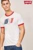 Biała koszulka z logo Levi's® Ringer