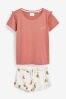 Rose Pink Fox Short Set, Regular