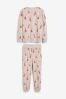 Oatmeal Fox Print Cosy Pyjamas, XL Tall
