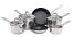 Set of 6 Meyer Stainless Steel Pans