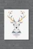 Stag by Little Design Haus Canvas