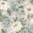 Arthouse Tapete mit gemaltem Dahlien-Muster