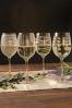 Set of 4 Mikasa Cheers White Wine Glasses