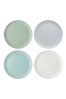 Set of 4 Kitchencraft Colourworks Classic Melamine Dinner Plates