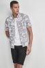 Hawaiian Leaf Print Shirt