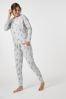 Хлопковый пижамный комплект с топом на завязках