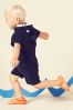 Navy Shark Towelling Two Piece Set (3mths-8yrs)