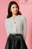 Angeleye Polka Dot Long Sleeved Blouse