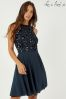 Lace & Beads Sequin Skater Dress