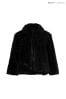 Mela London Curve Faux Fur Collar Jacket