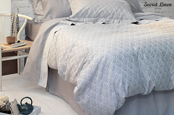 Secret Linen Store Teasels Duvet Cover