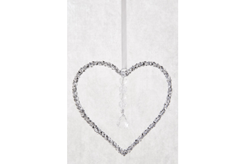 Sparkle Heart Hanging Decoration
