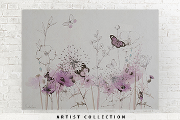 Artist Collection Purple Poppies By Nicola Evans Frame