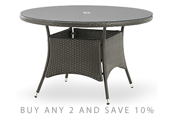 Monaco Garden Dining Table Grey