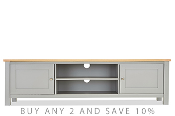 Malvern Grey Super Wide TV Stand
