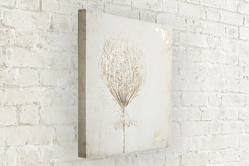 Dried Flower Foil Canvas