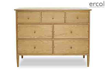 Ercol Hartwell Oak 7 Drawer Wide Chest